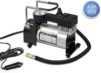 Vetrineinrete/® Compressore aria compressa 12 Volt con presa accendisigari gonfiatore con capacit/à 35 litri pompa per gonfiaggio pneumatici auto moto bici con manometro 12v AR02 C34