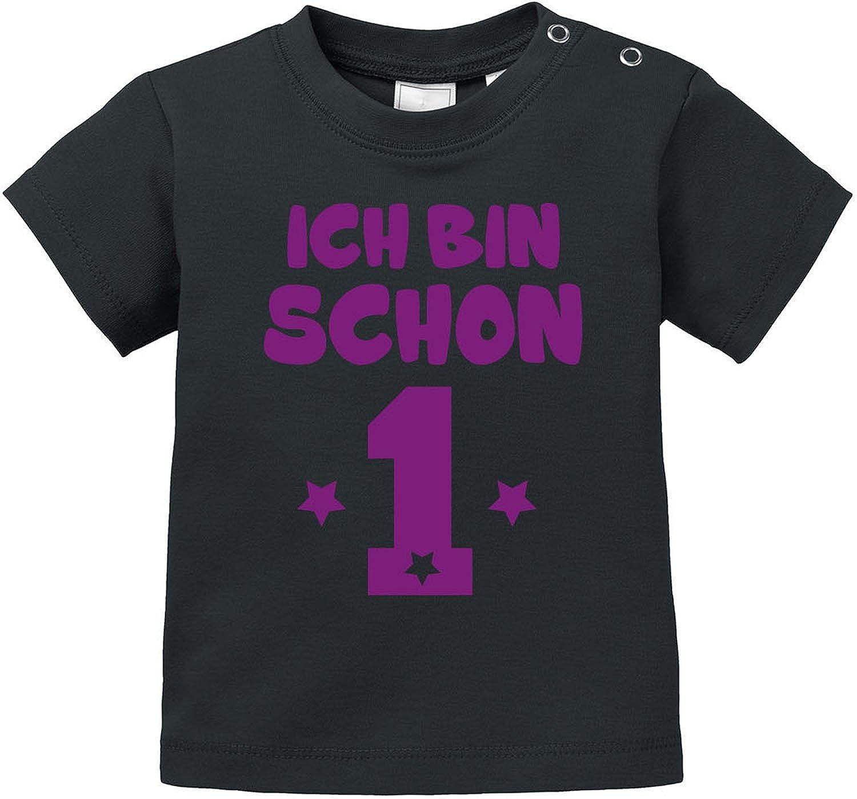 EZYshirt/® Ich bin Schon 1 Bio Baumwolle Baby T-Shirt Geburtstagsgeschenk