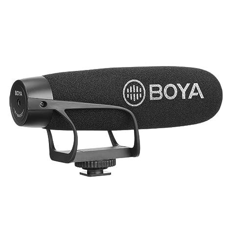 BY-BM2021 Super Cardioid - Micrófono de vídeo para cámara réflex ...