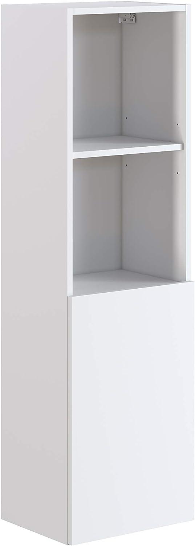 Marca Amazon -Movian Layon - Columna de baño, 40 x 32 x 135 cm, blanco