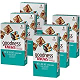 goodnessknows Dark Chocolate, Nuts & Sea Salt Gluten Free Snacks Square Bars 5-Count Box (Pack of 6)