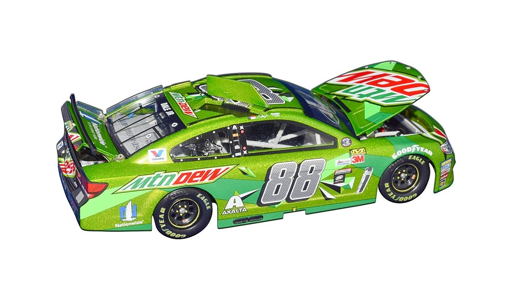 AUTOGRAPHED 2017 Dale Earnhardt Jr. #88 Mountain Dew Racing TALLADEGA LAST RACE (Retirement Final Season) Lionel 1/24 Scale Collectible NASCAR Diecast Car with COA (#0946 of only 2,088 produced!)