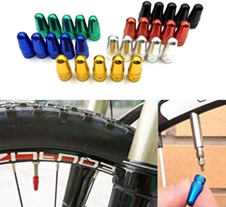 10x Bike Aluminium Alloy Presta Valve Cap Dust Cover MTB Road Bicycle Accessory