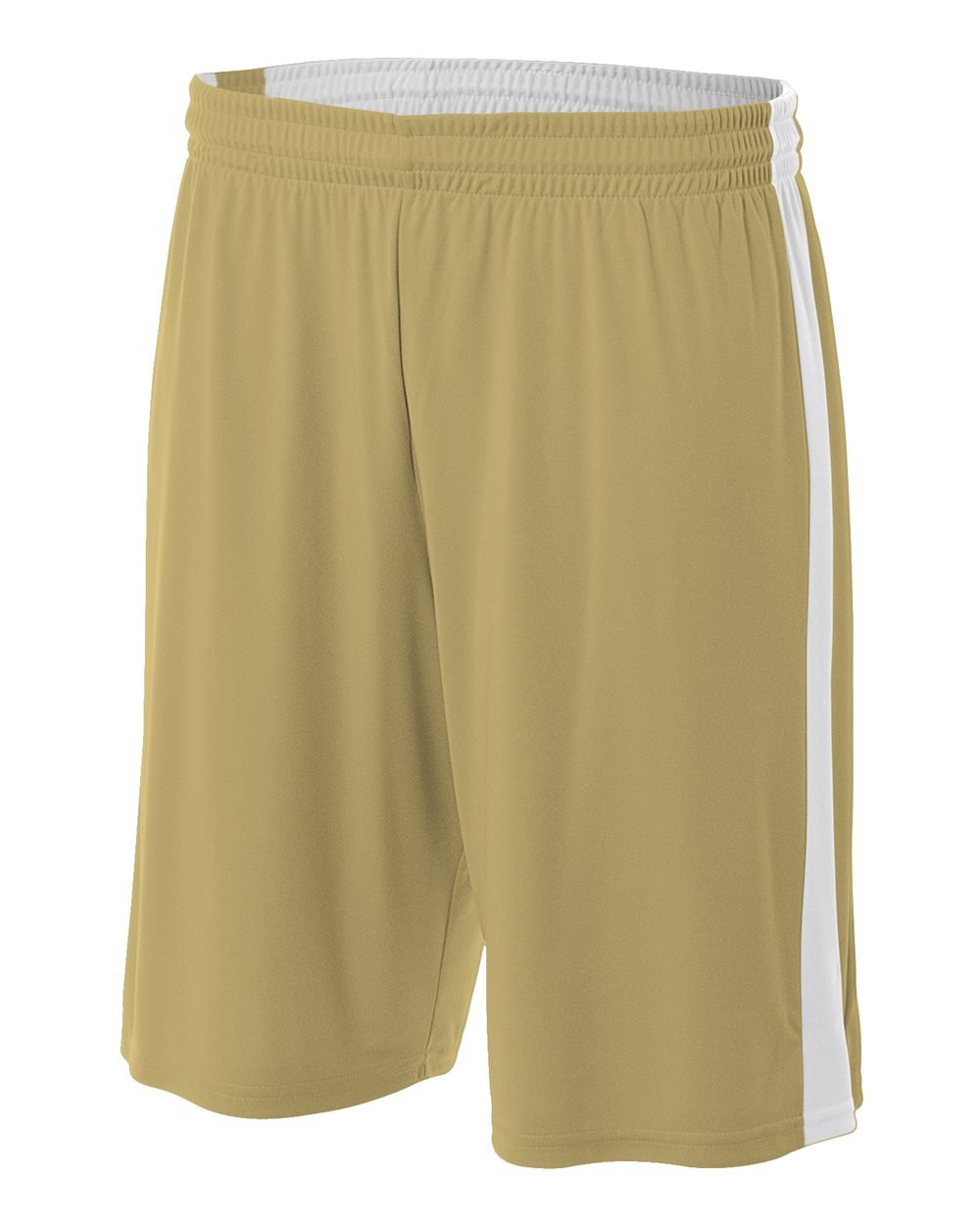 Reversible Vegas Gold/White Youth Large 8'' Uniform Jersey Shorts by A4 Sportswear (Image #1)