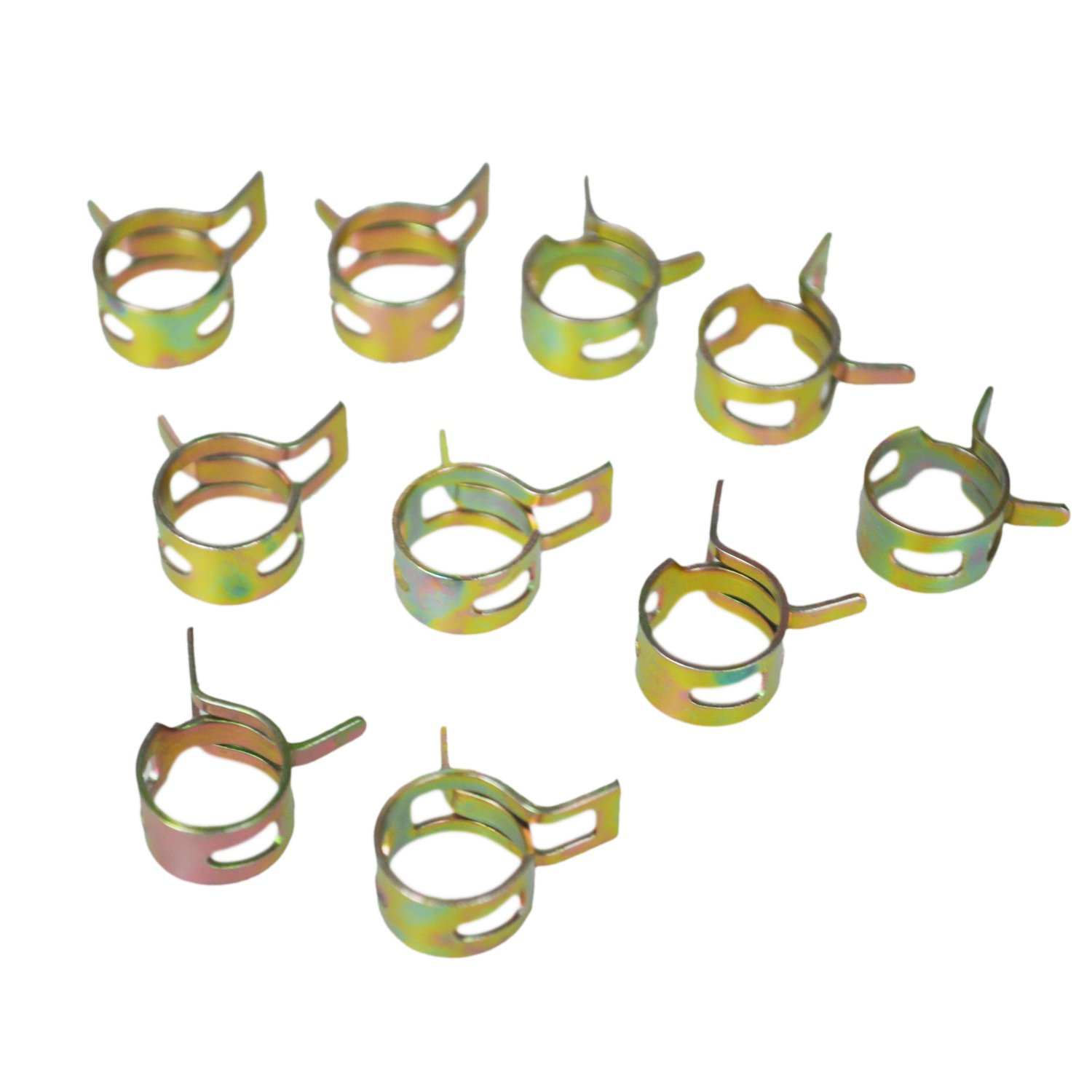 TOOGOO(R) 10Pcs 11mm Spring Band Type Fuel Vacuum Hose Silicone Pipe Tube Clamp Clip