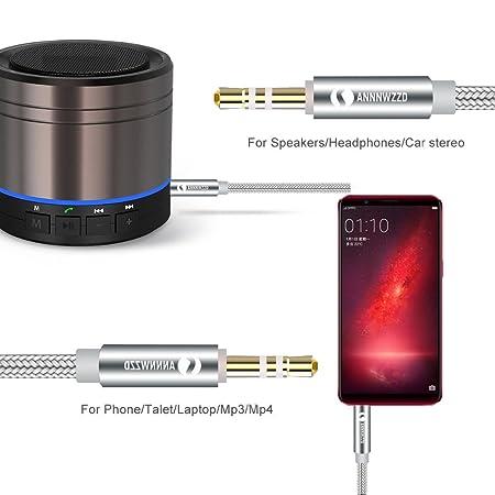 iPad LinRui Aux Kabel 3,5mm Audio Kabel Stereo-Audiokabel Geeignet f/ür iPhone Smartphone FM Transmitter Tablet PCs MP3 Auto Klinkenkabel f/ür Kopfh/örer