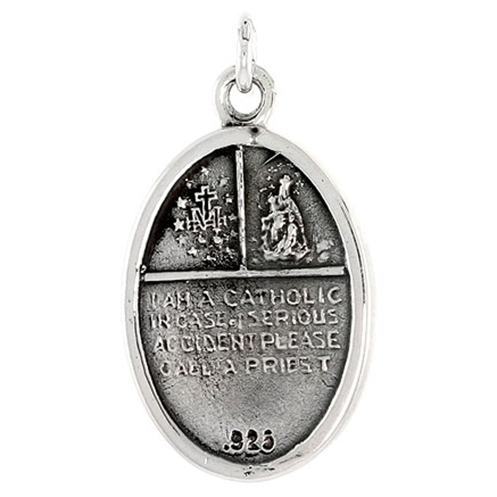 cheap store Sterling Silver Oval Four Way Medal Necklace ...