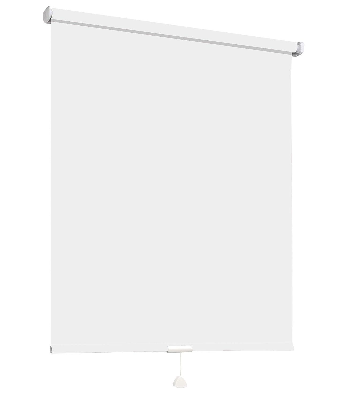 Springrollo Mittelzugrollo Schnapprollo Fenster Rollo Vorhang 16 Farben Breite 62-242 cm Höhe 160 und 230 cm blickdicht lichtdurchlässig Sonnenschutz Sichtschutz Blendschutz (152 x 230 cm Weiß)
