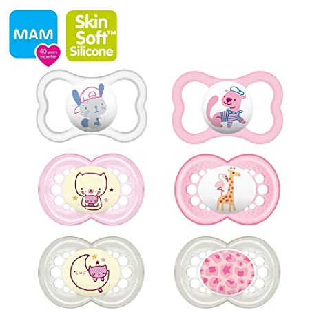 Mam Day & Night silicona original & Air Chupete//6 - 16 Girl ...