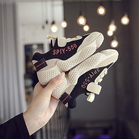 Zapatillas Running Niñas Soporte de Arco de Malla, Caminar Zapatos Clunky Sneaker Niños,Beige,7.0US: Amazon.es: Hogar