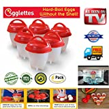 Egglettes Hard & Soft Maker Egg Cooker,BPA Free, Non Stick Silicone, As Seen On TV (6PACK)