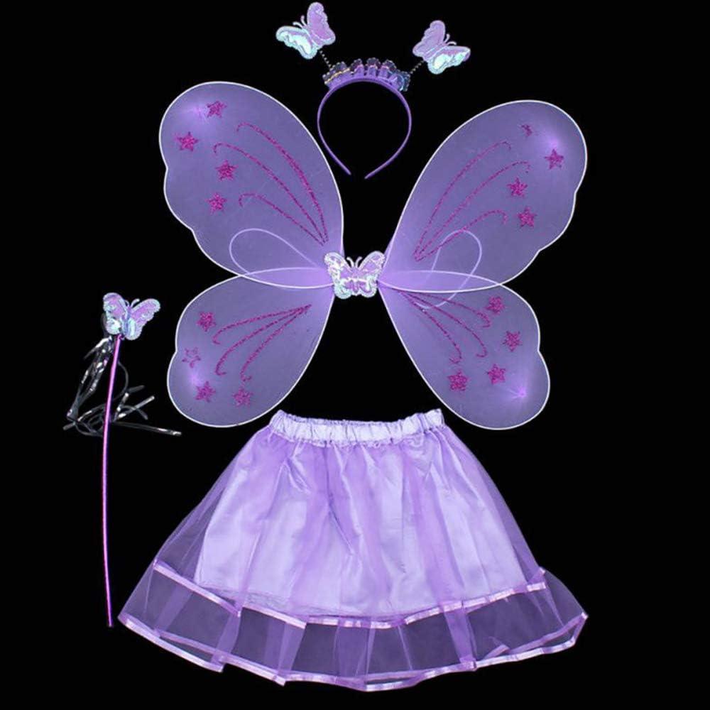 FJROnline - Disfraz de Princesa Hada, Mariposa, ángel para niña ...