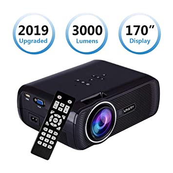 LED HD Portable Projector, Sinuk 2200 Lumens 1080 HD LCD Mini ...