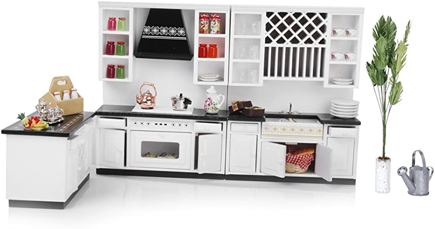 1:12 Dolls House Miniatures Furniture Wooden Cabinet Dresser Table D lilk NEW S8W6