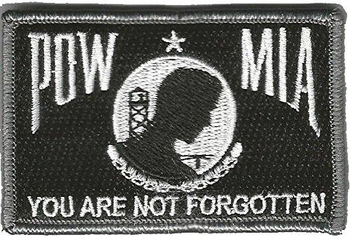 Tactical POW/MIA Patch - Black