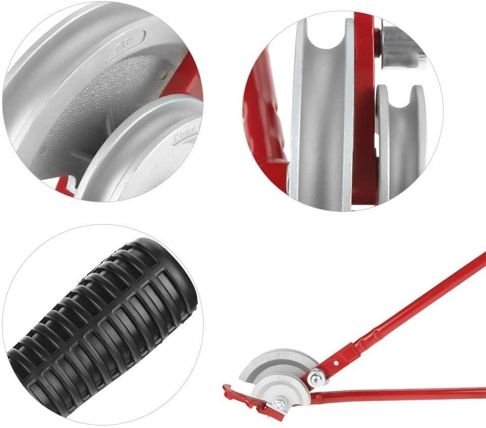 tragbar Rohrbiegeger/ät 2-in-1 Rohrbiegewerkzeug 15 mm//22 mm 180 Grad robust Rot
