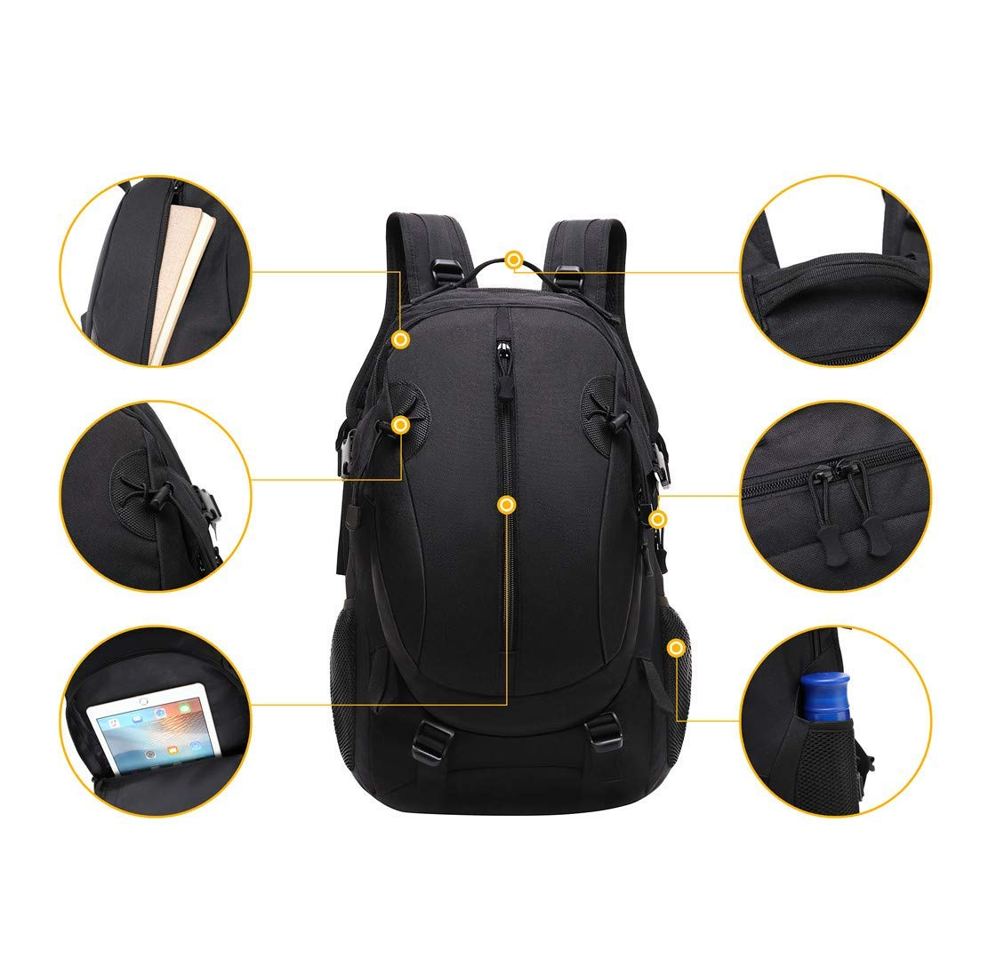 JOTHIN 40L Tactical Backpack Waterproof Laptop Daypack Outdoor Hiking Pack Military Camping Rucksack for Men Women