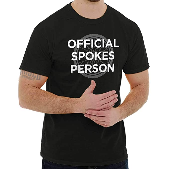 Amazon.com: Official Spokes Person Bicycle Cyclist Bike T ...