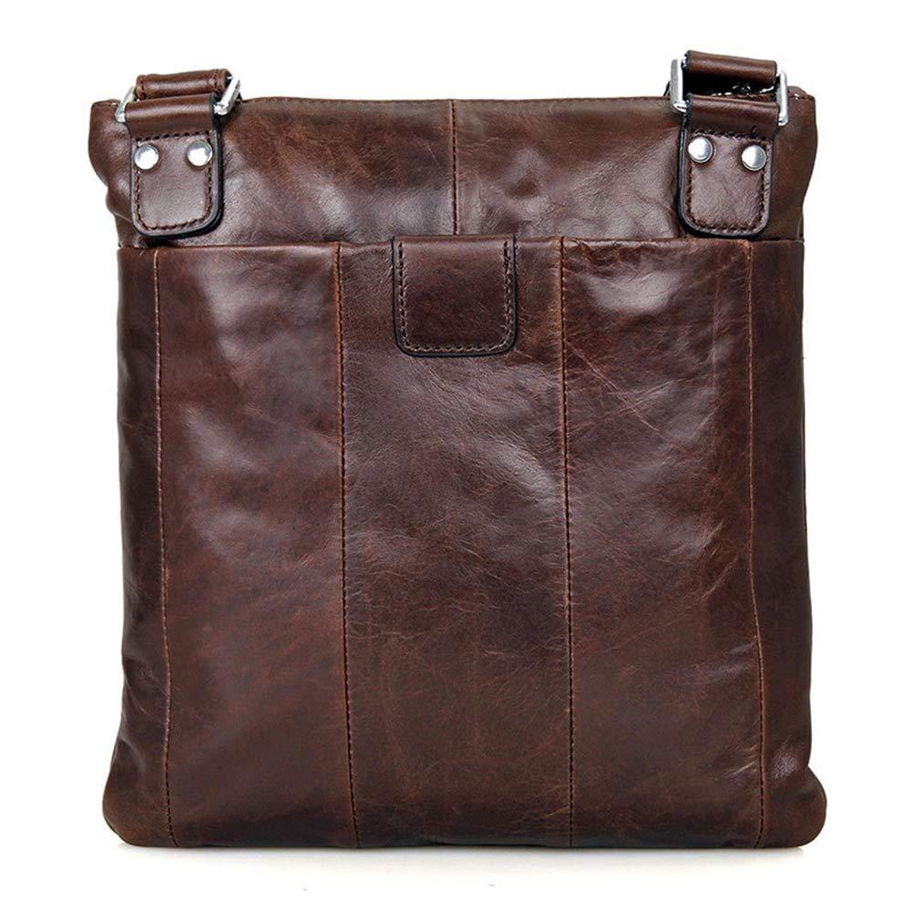 GLOOZD Mens Genuine Leather Shoulder Messenger Bag Business Casual Bag