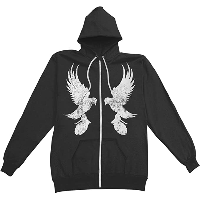 045bb1b5d4a33 Hollywood Undead Men s Mirror Dove Zippered Hoodie (XX-Large ...