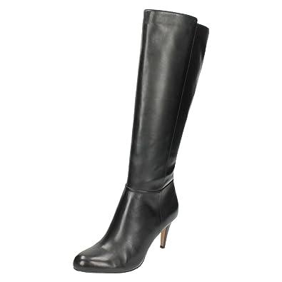 Women's Black Carlita Knee Heel Stiletto Boots Charm High Clarks zF8qZdwxYz