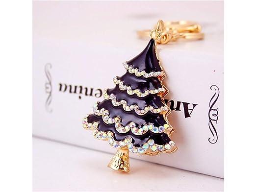 Blueqier Llavero, Hermosa Moda del árbol de Navidad Bolso ...