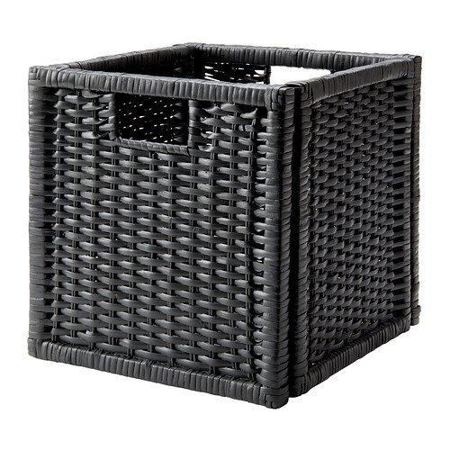 Ikea Basket, dark gray 2210.26814.212 (Wicker Ikea Storage Baskets)