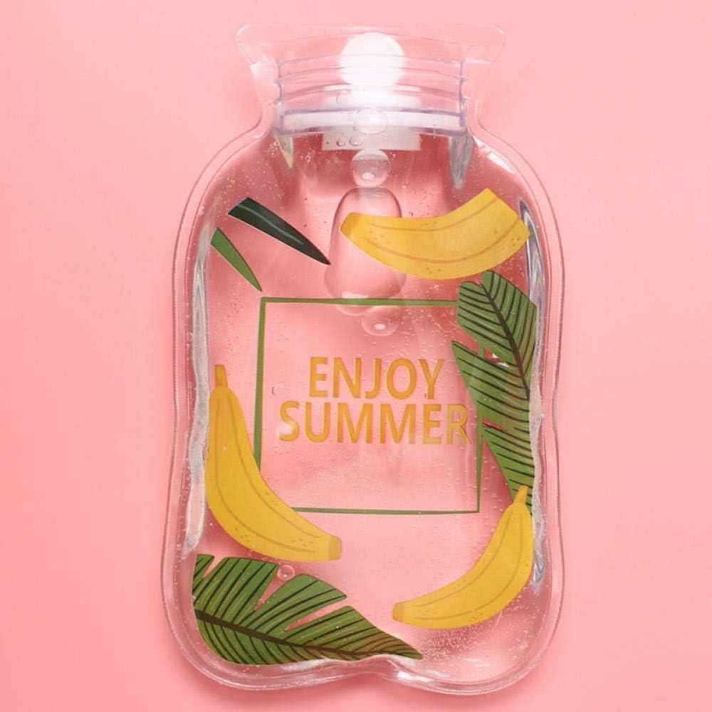 1 Piece Cute Pattern Keep Cool Cartoon Kawaii Fashion Chic Hand Warmer Portable Hot Water Bag Bottles@Banana_18.5x10.5cm