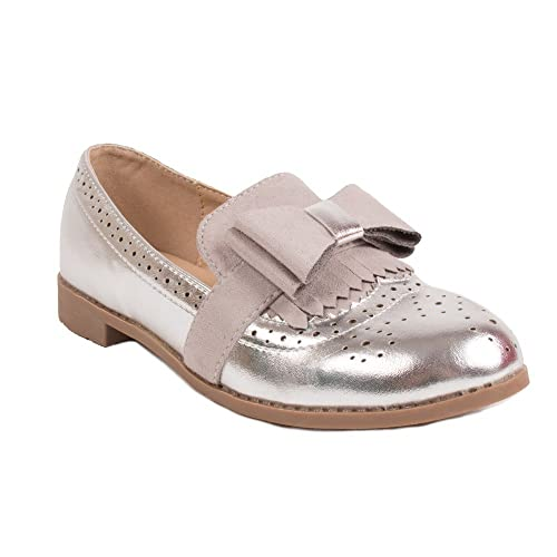 Mocassins Vernis Style Derbies Fille en suédine et Noeud-  Amazon.fr ... 8154c8335663