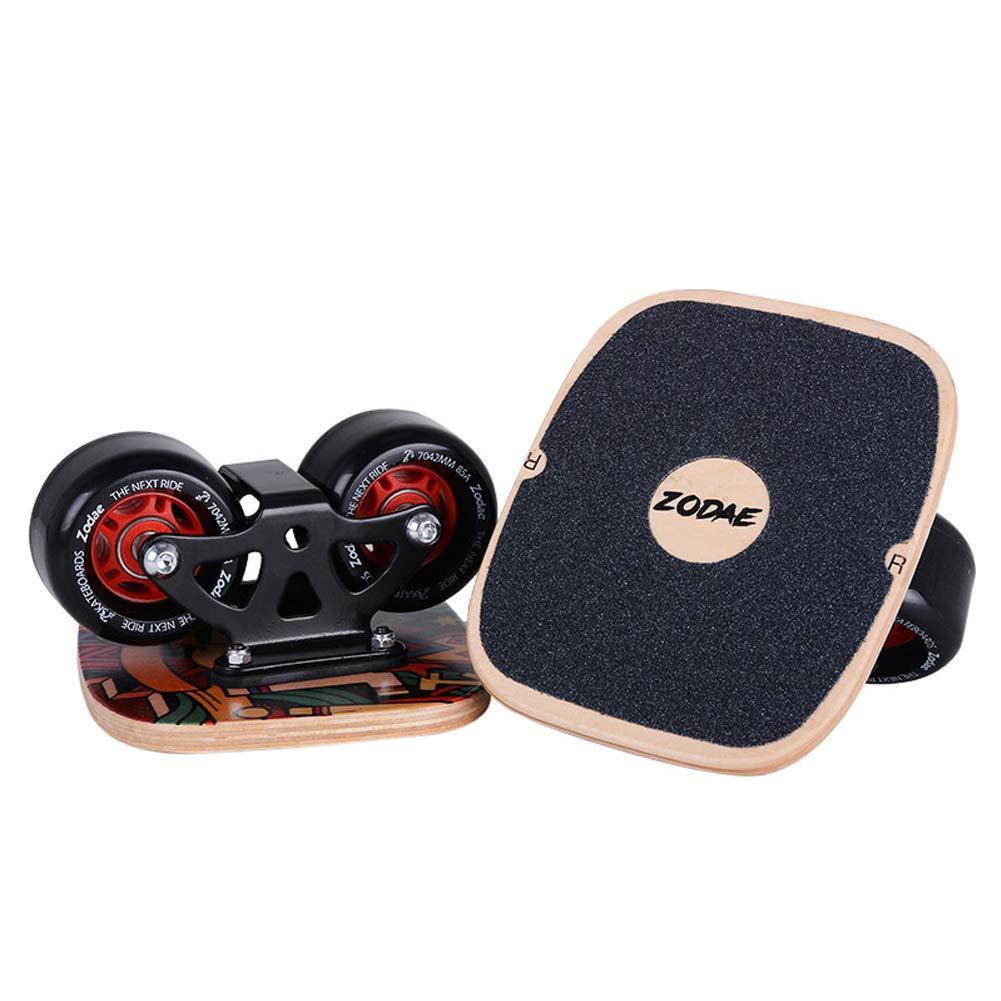 AsFrost Portable Roller Road Drift Skates Plate with Cool Maple Deck Anti-Slip Board Split Skateboard with PU Wheels High-end Bearings (Graffiti)