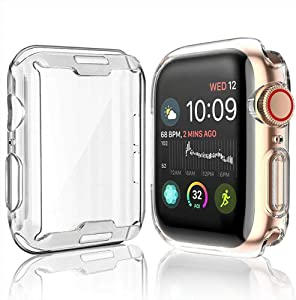 40mm Screen Protector Case Compatible for Apple Watch Series 4 Series 5 Series 6, All Around Protective Ultra-Thin TPU Case Cover for iWatch Series 4 Series 5 Series 6 (40mm) (2 Pack)
