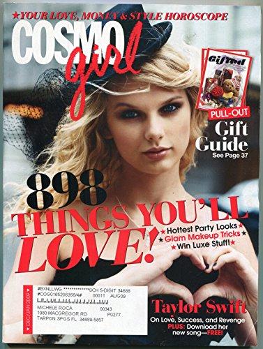 Cosmo Girl Magazine December 2009- Taylor Swift- Romance- Fashion- Beauty