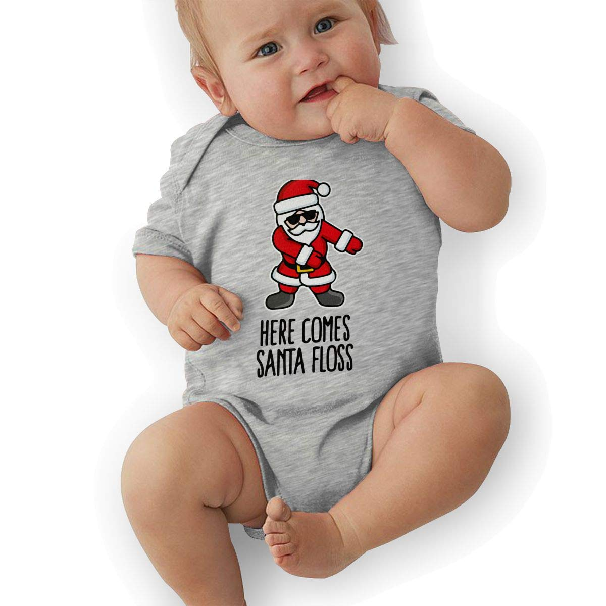 BONLOR Santa Floss Dance Baby Rompers One Piece Jumpsuits Summer Outfits Clothes Gray