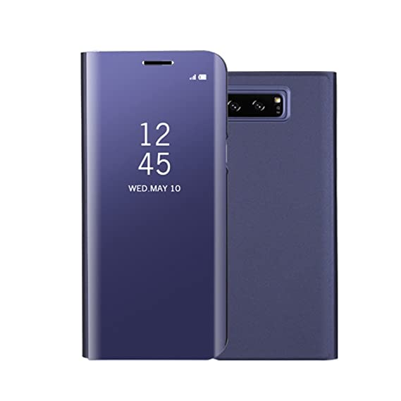newest 9cd16 094e8 Gravydeals Galaxy Note 8 Hard Case, Clear View Mirror Screen Flip Smart  Case Cover for Samsung Galaxy Note 8(Purple)
