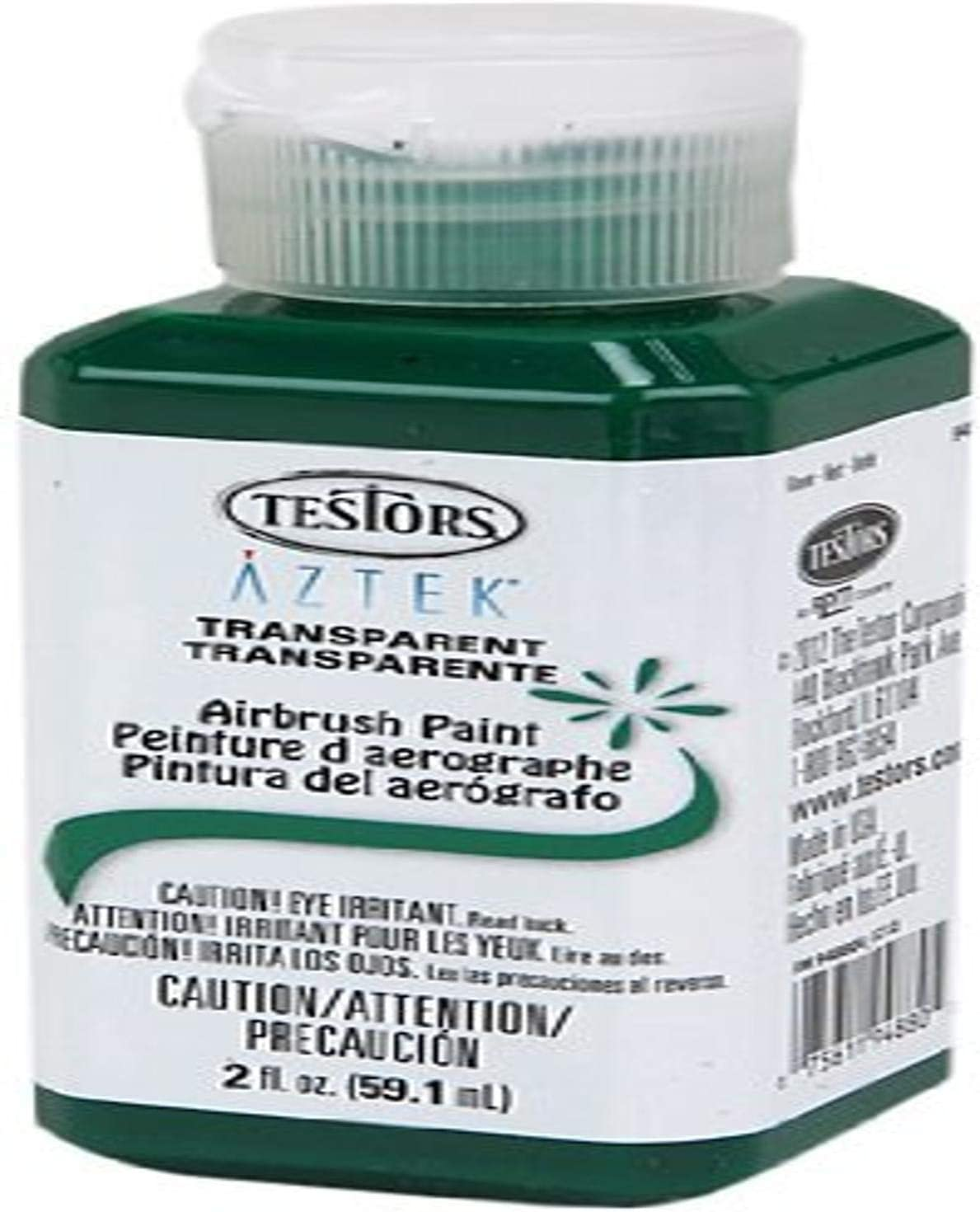 Testors Airbrush Paint, Transparent Green