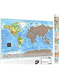 Social Studies Accessories Amazoncom Office School Supplies - Scratch off us state maps with pencil 25 pack