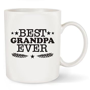 Amazon.com: Fathers Day Gifts Best Grandpa Ever Coffee Mug - Funny ...