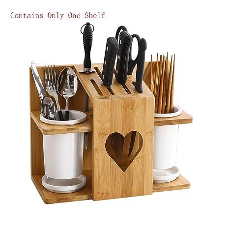 Amazon.com: Knife Storage Block Knife Holder Bamboo Wood ...