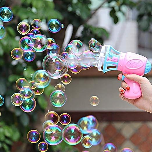ZYHA Soplador de Burbujas Ventilador Máquina Juguete Niños Jabón Agua Pistola de Burbujas Verano Al Aire Libre Niños Juguete Regalo: Amazon.es: Hogar