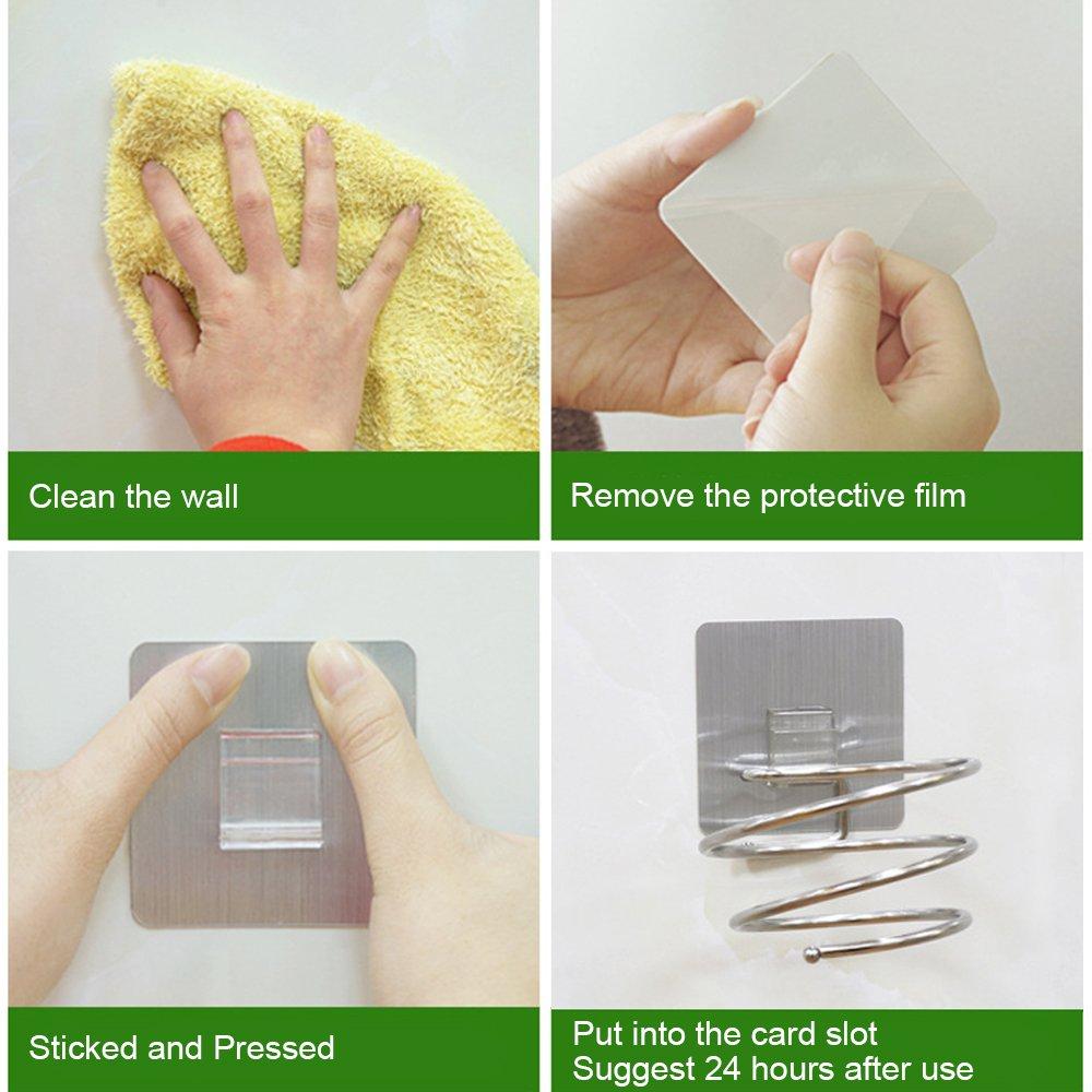 Ele Eleoption secador de pelo soporte secador organizador adhesivo ...