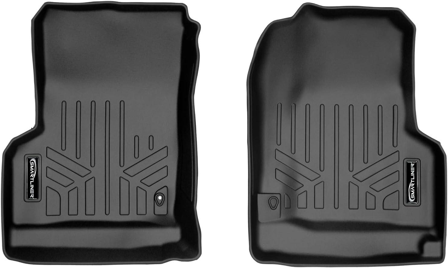 MAXLINER Floor Mats 1st Row Liner Set Black for 1997-2006 Jeep Wrangler Unlimited and 2 Door Models