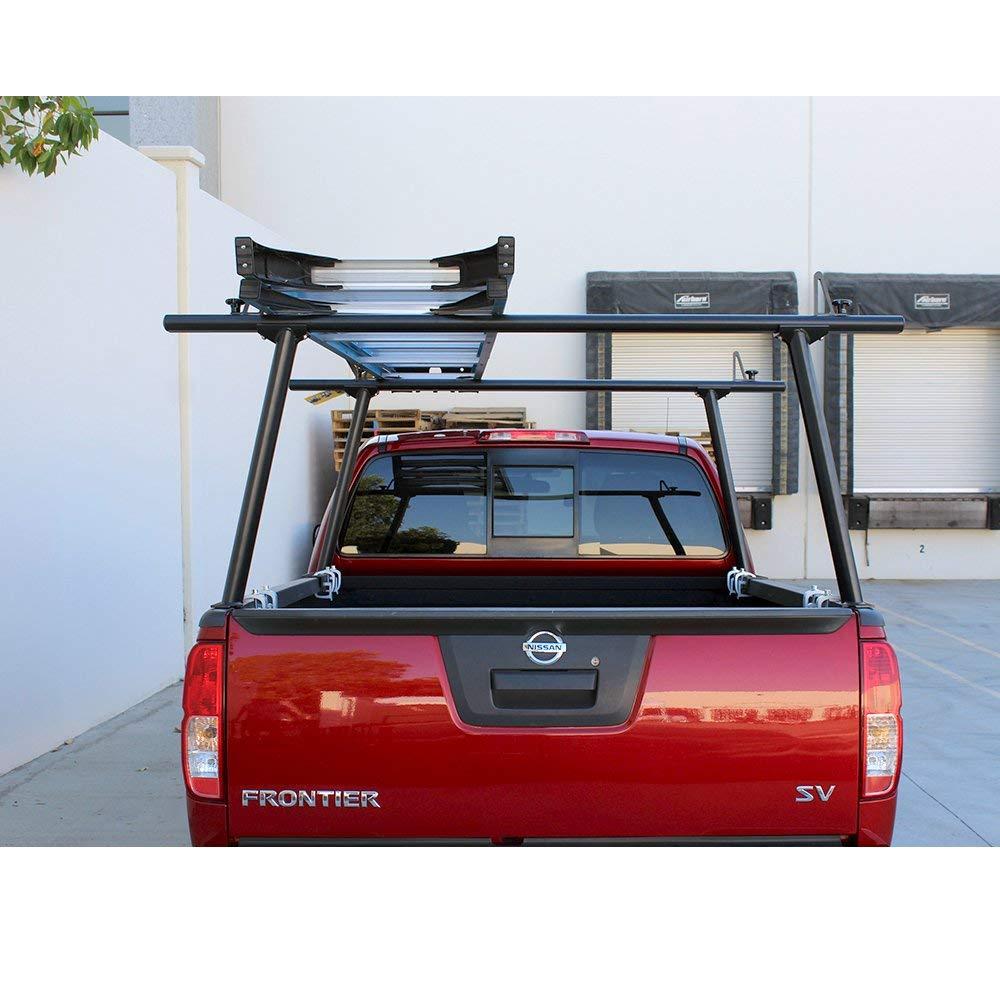 AA-Racks Model APX25-E Aluminum Pickup Truck Ladder Rack w//Cantilever Extension Sandy White