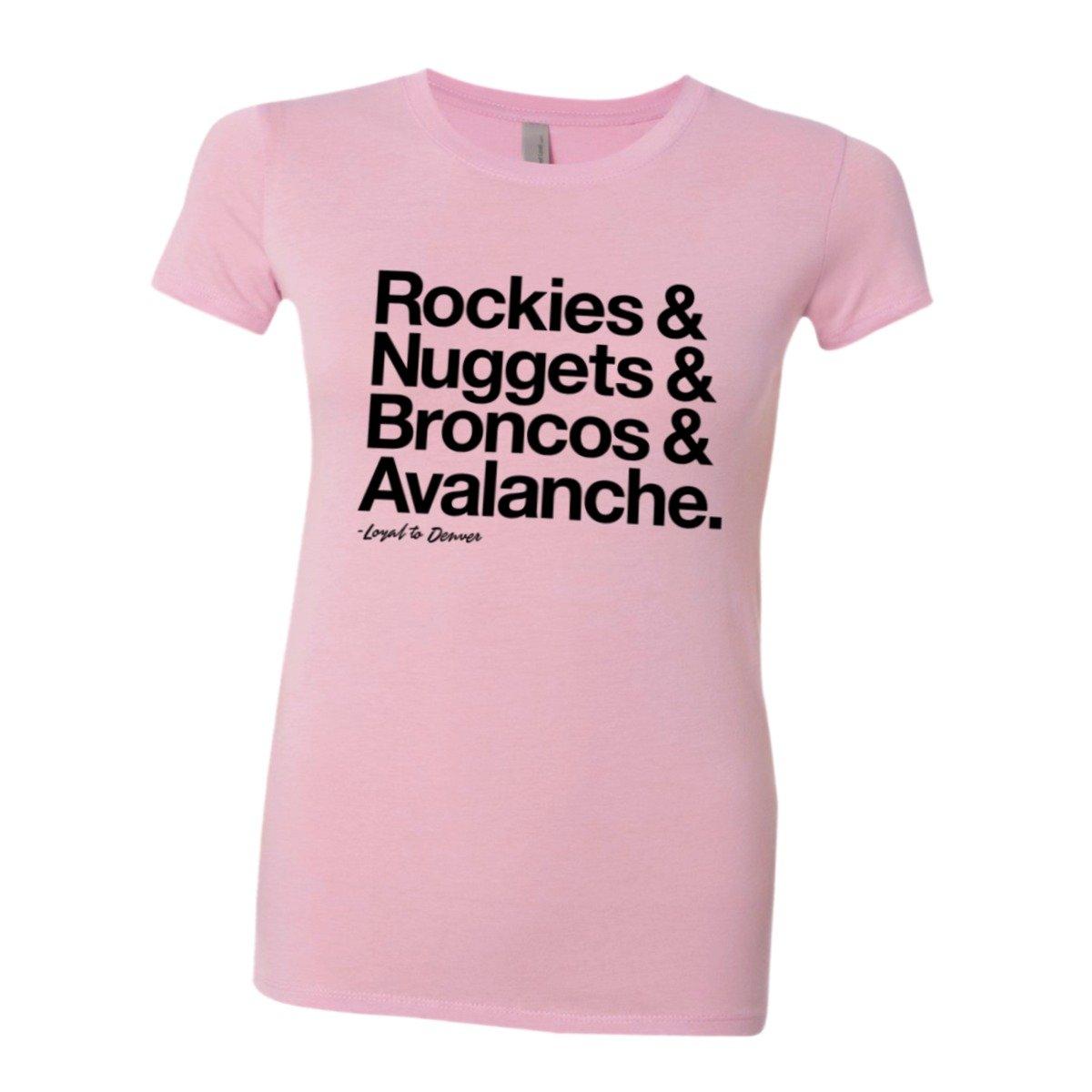 Loyal Rockies Nuggets Broncos Avalanche Soft Hq Fashion Tee 8337 Shirts
