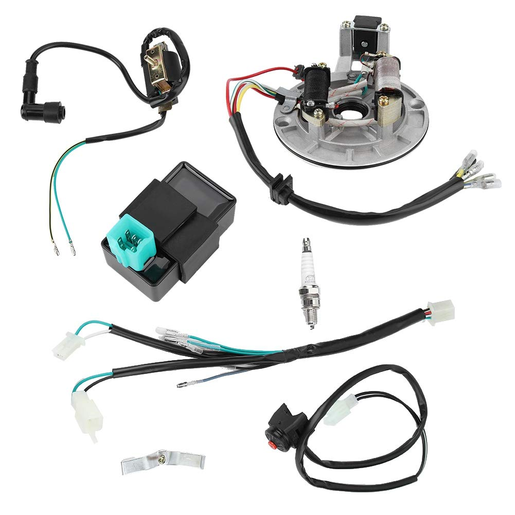 Spark Plug Wiring Harness,Electric Wiring Harness Kit CDI Ignition Coil Spark  Plug for 50cc 90cc 110cc Spark Plugs & Accessories Ignition urbytus.com   Spark Plug Wiring Harness      Urbytus