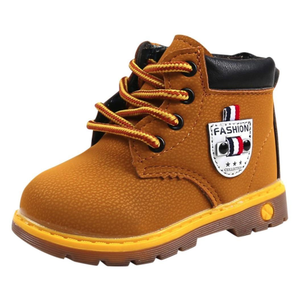 ALIKEEY❤️Bébé Enfants Chaud Garçons Filles Martin Sneaker Bottes Enfants Bébé Casual Chaussures Bottines pour Filles avec des Bottes Martin Britanniques Chaussures décontractées