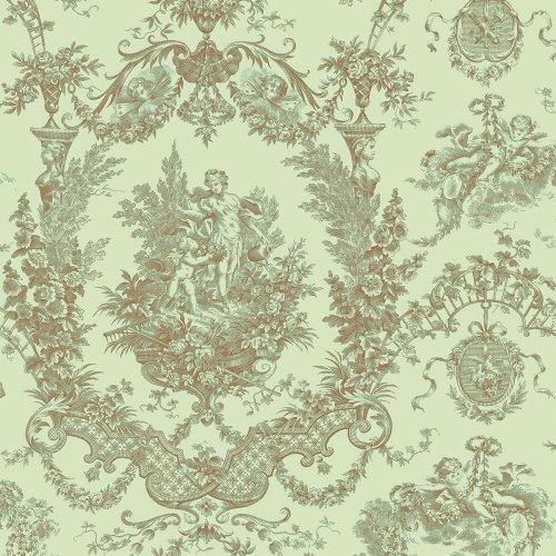 Decorate By Color BC1581467 Mint Cherub Damask Wallpaper (Wallpaper Cherub)