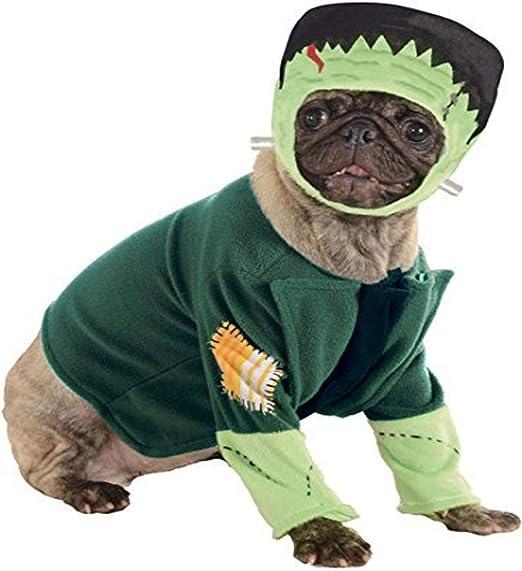 Halloween - Disfraz de Frankenstein para mascota, Talla M perro ...
