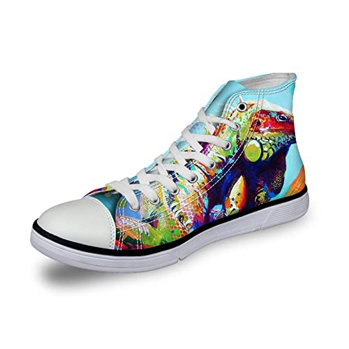7429aacb191f5 FOR U DESIGNS Fashion Unisex Owl Wolf Horse Animal Print High Top Lace Up  Shoes Casual Canvas Sneakers for Women and Men