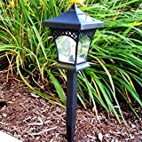 4Pack Classic Style Solar Lights for Walkway Sogrand Solar Pathway Lights Solar Walkway Lights Yard Decorations Solar Path Lights Solar Garden Lights