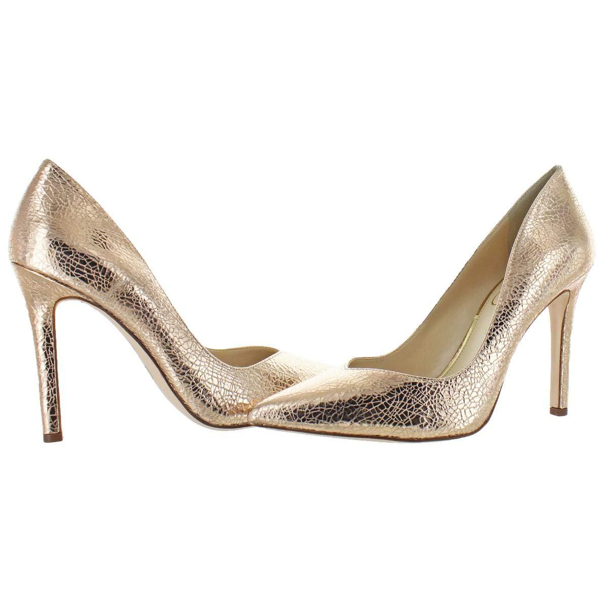 3faf4067cd Amazon.com | Jessica Simpson Women's Cylvie Metallic V-Cut Pumps Heels Shoes  Pink Size 8 | Pumps